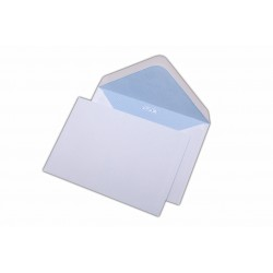Plic C6, pentru documente, gumat, clapa V, alb, 1000 buc.
