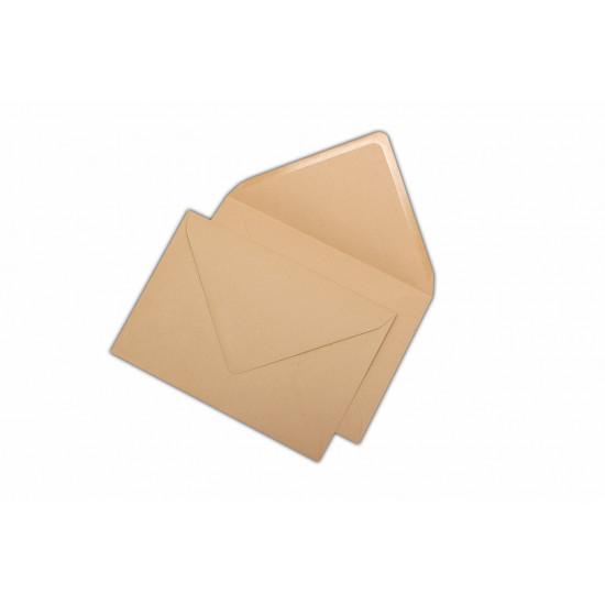 Plic C6, pentru documente, gumat, clapa V, kraft, 1000 buc.