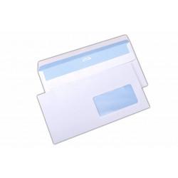 Plic DL, autoadeziv, cu fereastra pe dreapta, alb, 1000 buc.