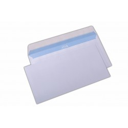Plic DL, pentru documente, siliconic, alb, 1000 buc.
