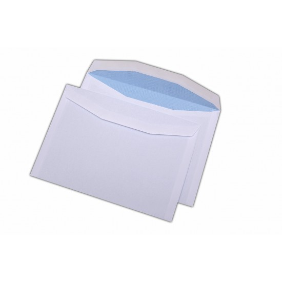 Plic C5, pentru documente, gumat, alb, 500 buc.