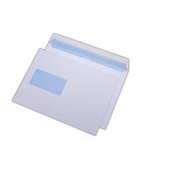 Plic C5, siliconic, cu fereastra pe stanga, alb, 500 buc.