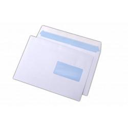 Plic C5, siliconic, cu fereastra pe dreapta, alb, 500 buc.