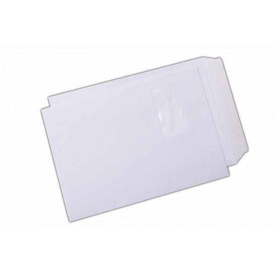 Plic C4, siliconic, cu fereastra pe stanga, alb, 250 buc.
